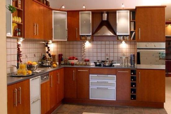 Угловая кухня ЛДСП цвет дуб натуральный