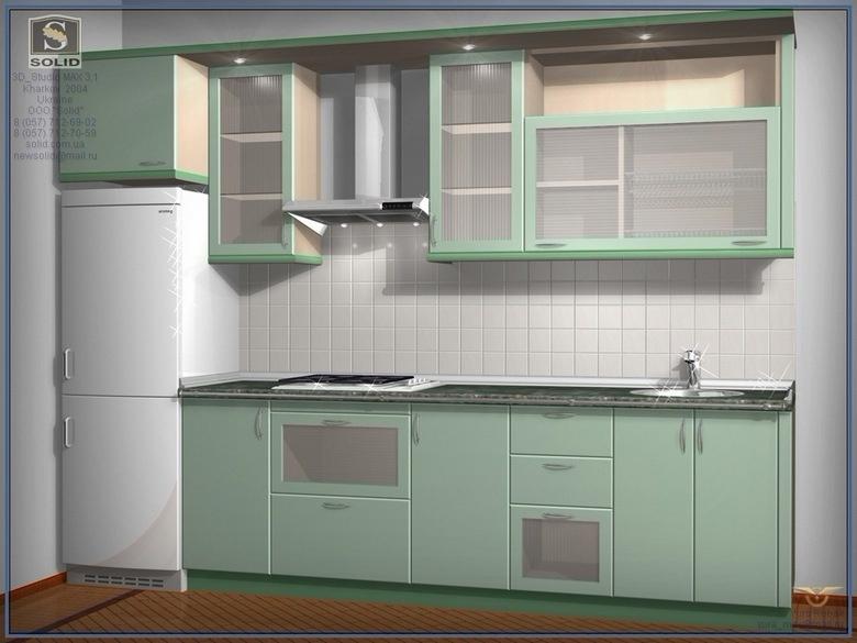 Линейная кухня фото 9