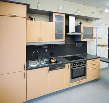 Линейная кухня фото 10