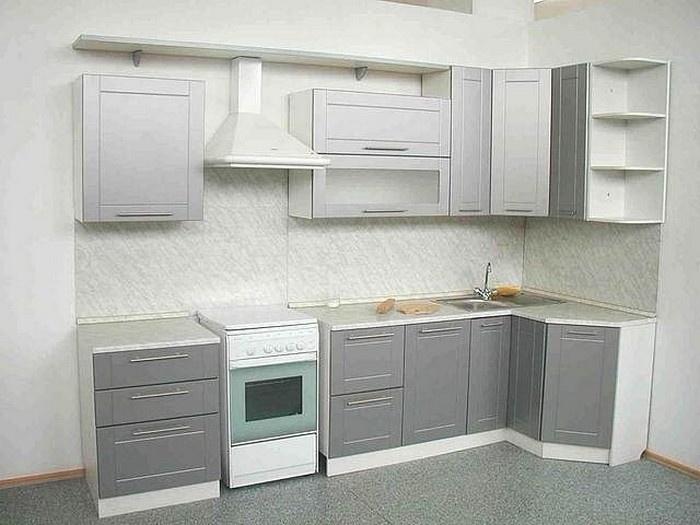 кухня серебристый металлик на заказ