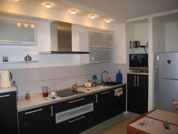 Линейная кухня фото 20