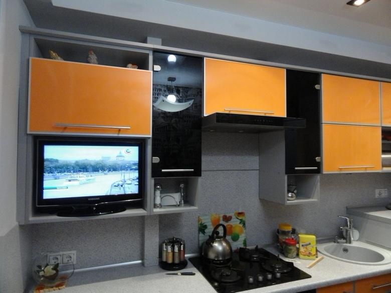 Линейная кухня фото 22