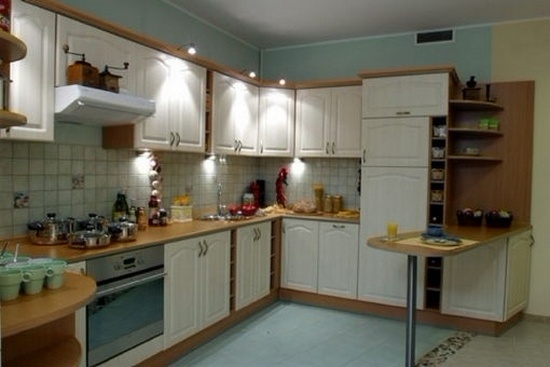 угловая кухня окрашенный МДФ под заказ