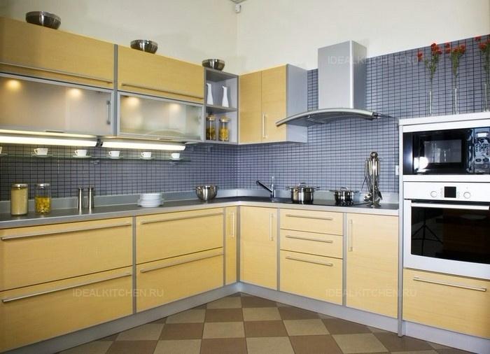 желтая кухня ЛДСП на заказ