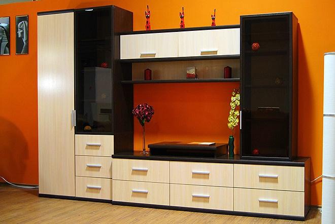 Корпусная мебель для зала фото 14