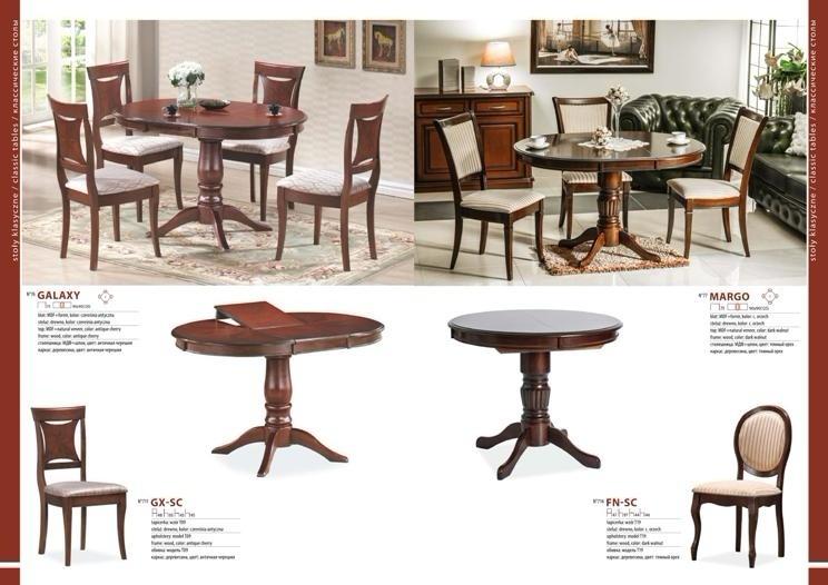Столы и стулья для гостиной каталог фото 5