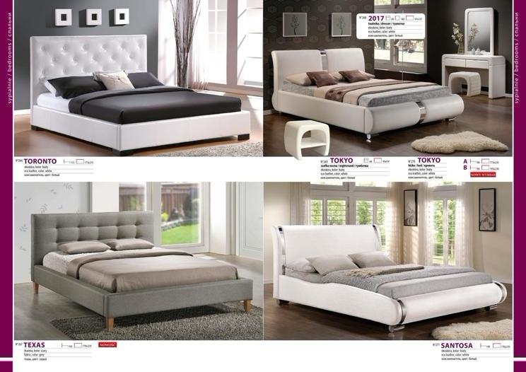 Кровати с обивкой экокожа