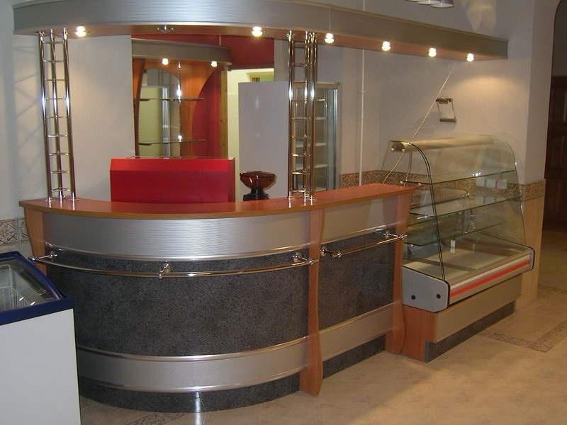 барная стойка с холодильником для кафе на заказ