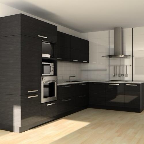 угловая кухня с фурнитурой blum цвет венге под заказ